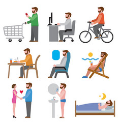 lifestyle icons vector image