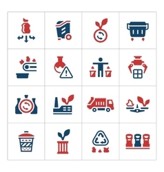 Set color icons of recycling vector image vector image