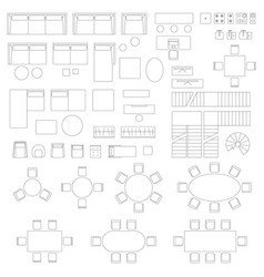furniture set icons for living room vector image