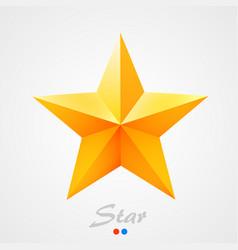 golden star on orange background vector image vector image