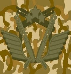 Military Logo Shotgun vector image vector image