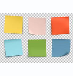 multicolor post it notes vector image