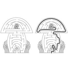 Mushroom maze vector image vector image