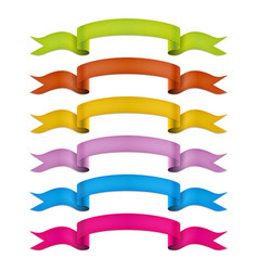 ribbons collection colorful ribbons set vector image vector image