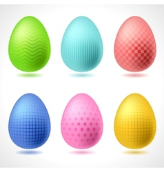 Set of 6 patterned Easter Eggs vector image vector image