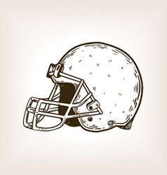 american football equipment engraving vector image