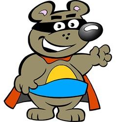 an Happy Strong Super Hero Bear vector image