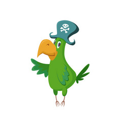 Cartoon pirate parrot vector