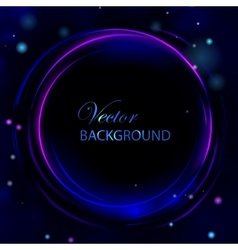 Circle light abstract background vector image