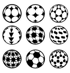 set of football and soccer balls vector image