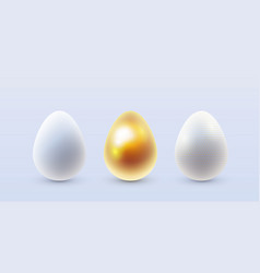 3d easter eggs vector
