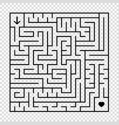 A square labyrinth with a black stroke an vector
