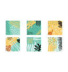 Abstract collage artboards set background vector