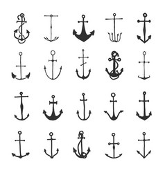 anchor engraved vintage in old hand drawn vector image
