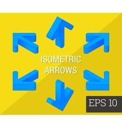 arrows isometric vector image