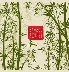 Bamboo rain forest wallpaper in japanese vector