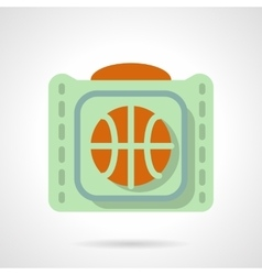 Basketball accessories flat color icon vector image