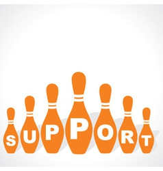 bowling pins make support word vector image