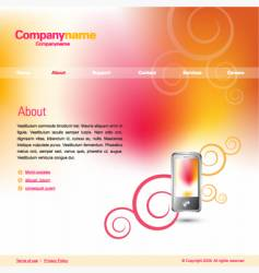 business website vector image