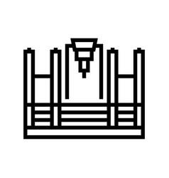 Butt welding machine line icon vector