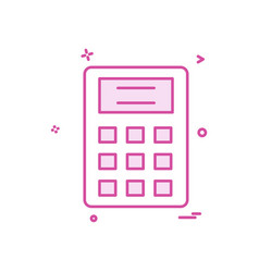 calculator school icon design vector image