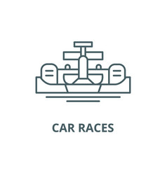 car races line icon car races outline vector image