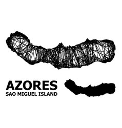 Carcass map sao miguel island vector