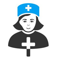 Catholic lady doctor flat icon vector