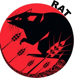 Chinese Horoscope rat vector