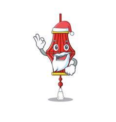 Chinese paper lanterns in santa cartoon character vector