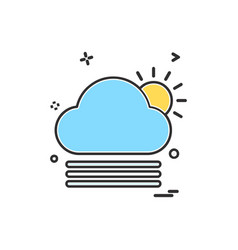 cloudy weather icon design vector image
