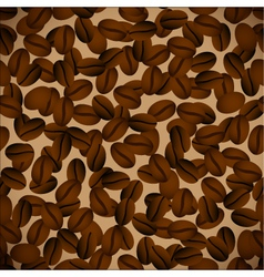 Coffee beansseamless background vector