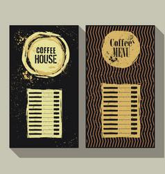 coffee menu set of two vintage labels vector image