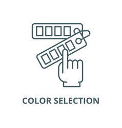 color selection line icon color selection vector image