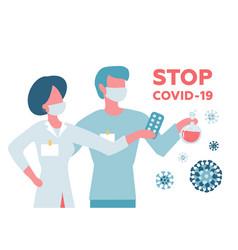 covid19-19 wuhan novel coronavirus 2019-ncov vector image