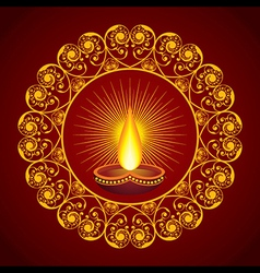 Creative Diwali greeting vector image