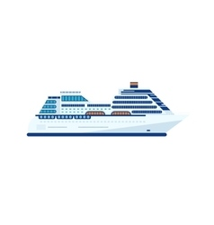 cruise ship isolated side view of vector image