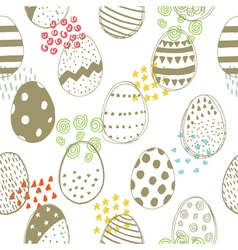 easter pattern with color elements vector image