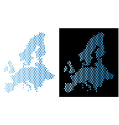 european union map honeycomb abstraction vector image