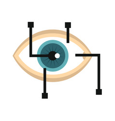 eye in virtual reality in flat style vector image