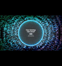 Future technology cyber concept background vector