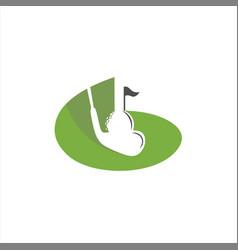 Green golf sport vector