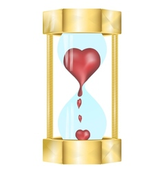 heart in the hourglass vector image