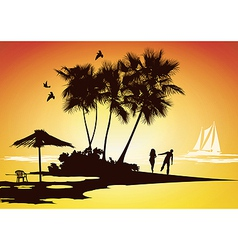 honeymoon relaxing vector image