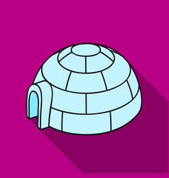 Igloo icon in flate style isolated on white vector