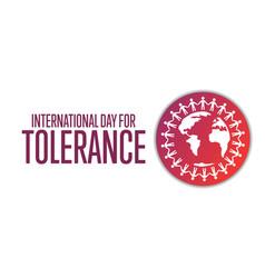 International day for tolerance november 16 vector