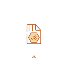 Js concept 2 colored icon simple line element vector