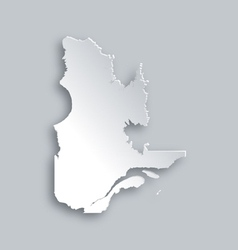 Map of Quebec vector image
