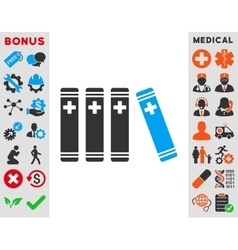Medical Books Icon vector image