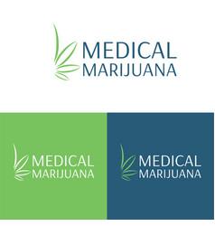 Medical marijuana logo and icon 4 vector